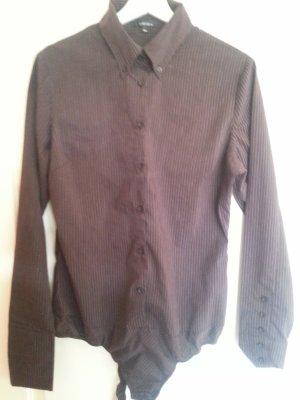 Amisu Formal Shirt sand brown-dark brown cotton