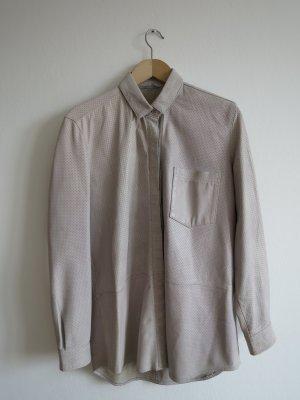 Samsøe & samsøe Leather Shirt natural white leather