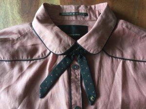 Hemd aus SEIDE m. Paspel und Schleife * Maison Skotch ALT ROSA