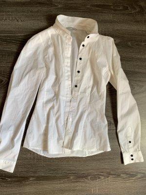 H&M Camisa de manga larga blanco-negro