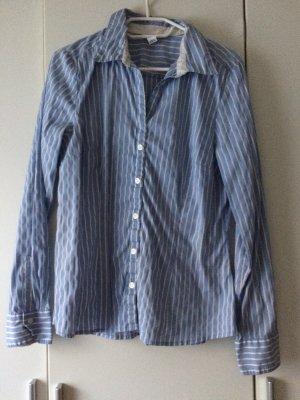 H&M Shirt met lange mouwen wit-lichtblauw