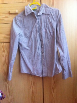 Benetton Long Sleeve Shirt sand brown-pink cotton