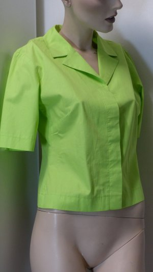 Short Sleeve Shirt neon green cotton
