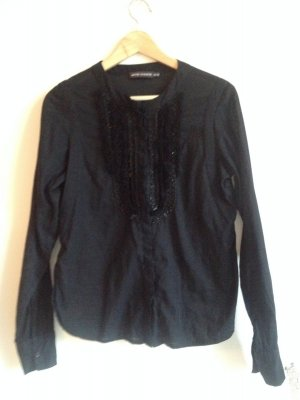 Hemd ** Bluse ** Antik Batik ** schwarz ** Gr. 38