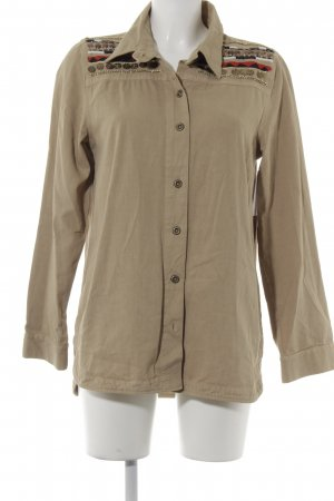 Hemd-Bluse beige-rot Casual-Look