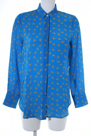 Hemd-Bluse blau Motivdruck Comic-Look