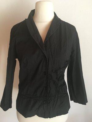 Hemd Bluse Blazer schwarz mit Kragen Gr. 40