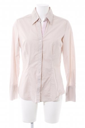 Hemd-Bluse creme-rosa Punktemuster Casual-Look