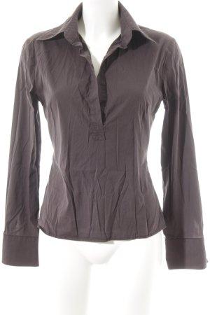 Hemd-Bluse dunkelviolett Casual-Look