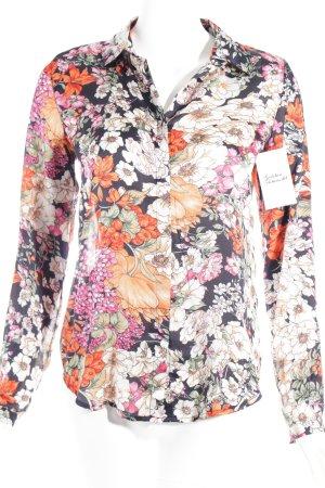Hemd-Bluse florales Muster extravaganter Stil