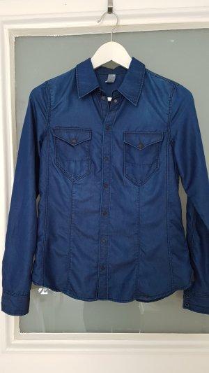 Hemd-Bluse G-Star blau Größe S