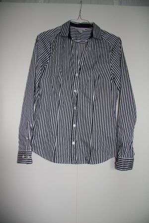 Hemd Bluse gestreift langarm weiß blau