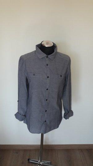 Hemd Bluse H&M Gr. 38 blau sehr guter Zustand