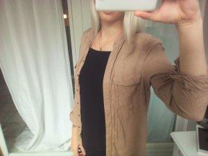 Hemd Bluse H&M Hellbraun beige