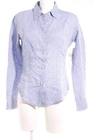 Hemd-Bluse himmelblau-weiß Webmuster Casual-Look