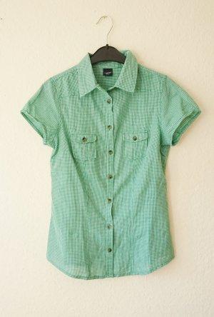 Hemd Bluse kariert grün weiß 38 S
