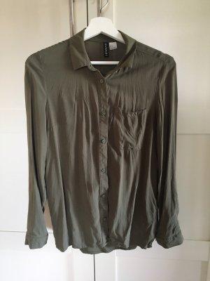 Hemd Bluse khaki H&M Größe 34