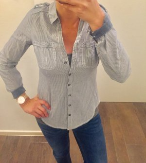 Hemd Bluse langärmlig mit Knöpfen gestreift Oberteil C&A wie neu