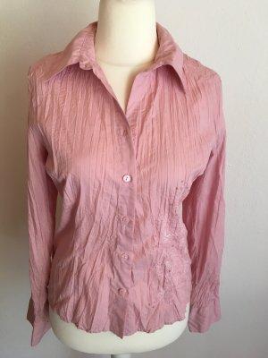 Hemd Bluse Langarm rosa mit Pailetten süss Gr. 38