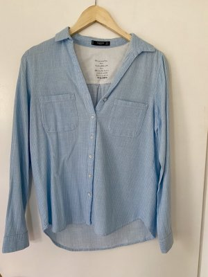 Hemd Bluse Mango blau