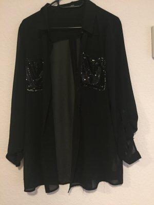 Hemd/Bluse mit Pailetten