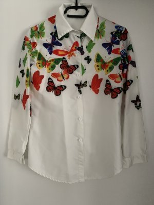 Blouse brillante multicolore