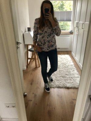Hemd Bluse Oberteil langärmlig Blumenmuster romantisch Montego wie neu Top Shirt