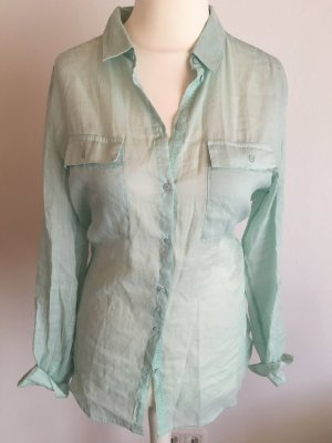Hemd Bluse oversized Boyfriend mintgrün pastell Esprit Gr. 40