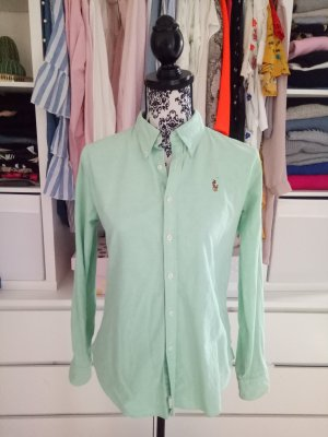 Hemd Bluse Ralph Lauren Grün Slim Fit 10 38 40