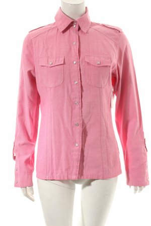 Hemd-Bluse rot-weiß Webmuster Country-Look
