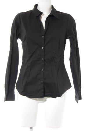 Hemd-Bluse schwarz Business-Look