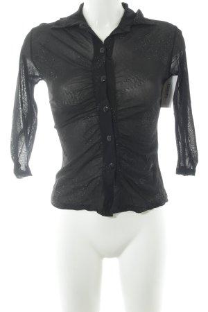 Hemd-Bluse schwarz Elegant
