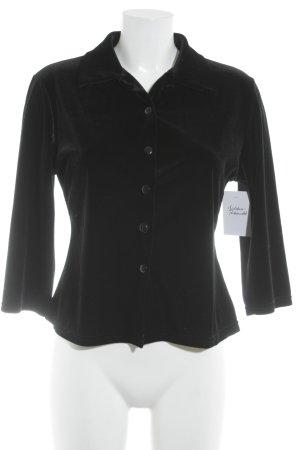 Blusa-camisa negro apariencia de terciopelo