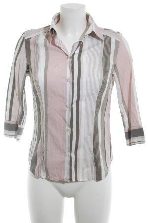 Hemdblouse gestreept patroon zakelijke stijl
