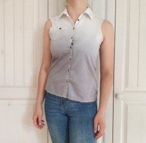 Hemd Bluse Tanktop Tank Top T-Shirt Shirt Tshirt Croptop Oversize Crop M weiß grau