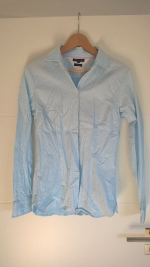 Tommy Hilfiger Blusa-camisa azul celeste-blanco