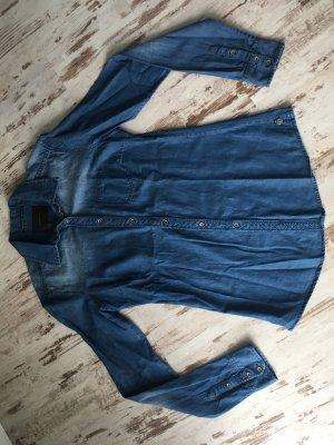 Maison Scotch Spijkershirt donkerblauw