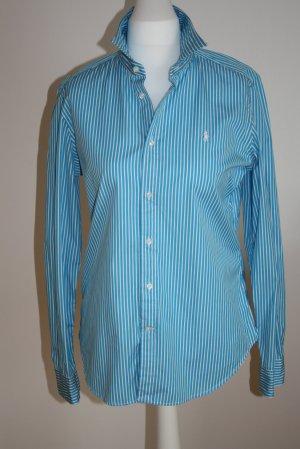 Ralph Lauren Sport Long Sleeve Shirt white-neon blue