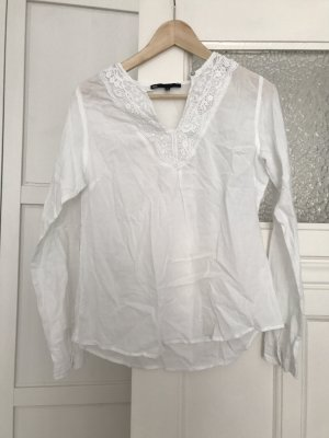 WE Fashion Blouse-chemisier blanc coton