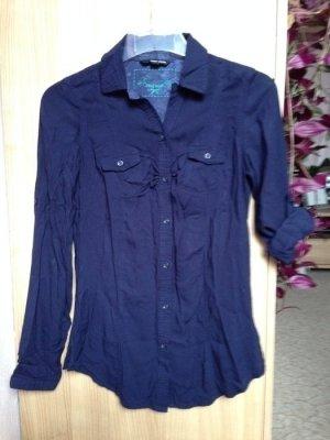 Hemd-Bluse Weiß Größe S
