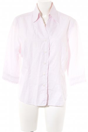 Hemd-Bluse weiß-rosa florales Muster Casual-Look