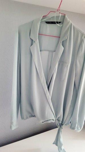Hemd Blusen Blazer mintgrün