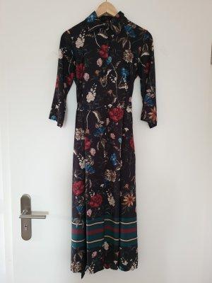 Hemd Blusen Kleid mit Blumenprint von Rinascimento Gr. XS