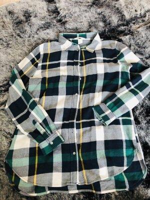 H&M Chemise à manches longues blanc-vert foncé