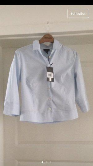 Calvin Klein Short Sleeve Shirt azure cotton