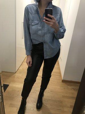 Camicia denim azzurro-blu