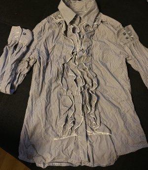 rossana diva Flanellen hemd zilver-wit