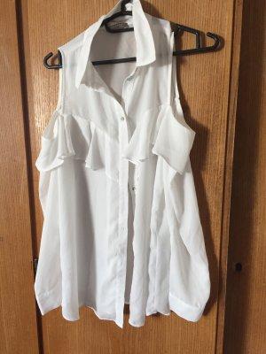 Orsay Camisa de manga larga blanco