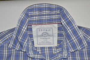 Hemd Esprit in Gr. L Blau kariert