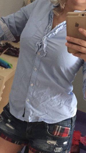 Sisley Flanellen hemd babyblauw